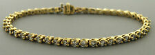 14K YELLOW GOLD LADIES DIAMOND TENNIS BRACELET 3.68ct