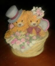 BAINBRIDGE BEARS COLLECTION * BEATRICE & HENRY *  LOVE IN BLOOM MUSIC BOX