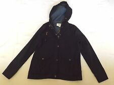 """FOREVER 21 LADIES SMALL NAVY BLUE HOODED JACKET CHEST 36"""" 91cm"""