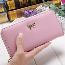 Womens Lady Leather Wallet Long Purse Coin Card Holder Case Phone Clutch Handbag