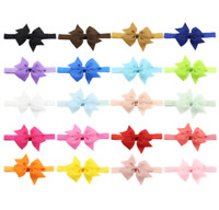 20PCs Set 10cm Bow Baby Girl Toddler Child Kid Stretch Headband Hair Accessory