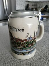 Rare and Collectable Bmw Beer Stein, stoneware & pewter, Historic Munchen.