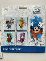 NEW 2020 Disney Parks INK & PAINT 4 Pin Set enamel Disneyland World Fancy Free