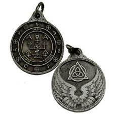 "NEW Uriel Archangel Talisman Pewter 1.25"" Amulet Pendant Hermetic Magic"