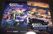 Fast And Furious Spy Racers signed poster cast X