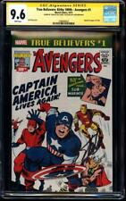 True Believers Kirby 100th Avengers 1 CGC 9.6 SS signed by STAN LEE  95th B-Day