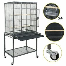"53"" Large Bird Pe t Cage Large Play Top  Parrot Finch Cage Maca w Cockatoo W/ Door"