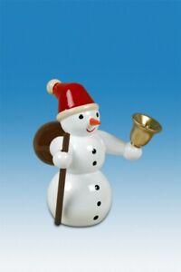 Wood Figure Christmas Snowman Santa Claus Height Approx 6,5cm New Erzgebirge