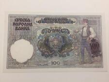 Serbia/Germany Occupation 1941 Pick # 23 100 Dinara UNC Condition