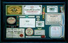 Beer & Whiskey Labels Blechschild Schild 3D geprägt gewölbt Tin Sign 20 x 30 cm