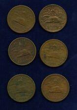 MEXICO ESTADOS UNIDOS  1951  20 CENTAVOS COINS, GROUP LOT OF (6)