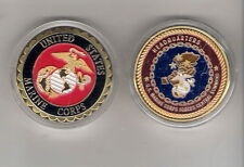 CHALLENGE COIN USMC MARINE CORPS FORCES CENTRAL COMMAND FREE PLASTIC CAPSULE