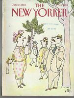 1983 New Yorker June 27 - Steig gets his picture taken with his wife's camera