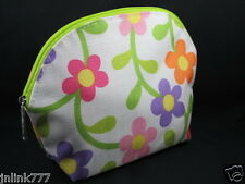 Lot 10x New Clinique Cosmetic Case-Lilac Pink Yellow Florals YELLOW FLORALS