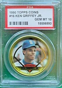 1990 Topps coin #16 Ken Griffey Jr. PSA 10 Gem Mint