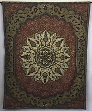 "Large Wall Tapestry Medallion Fine Art Hanging Woven Weighted Bottom 50"" x 64"""