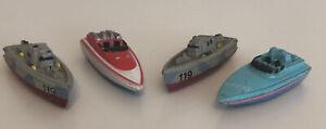 1987 Galoob Micro Machines PT Boat, Speed Boat, Cigarette Boat, Nancy,Debby Lot