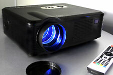 720P Home Theater HD LCD Video Projector Gaming PC 2500 Lumens USB & HDMI 1080i