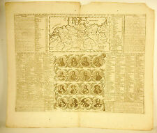 Henri Chatelain 1720 Carte des états de Prusse Allemangne Germany map souverains