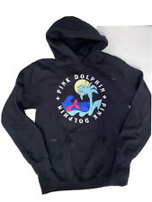 Pink Dolphin Sz. Small Black Hoodie Island Waves Unisex