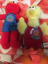 2 X Team Sesame St Soft Toys Big Bird & Elmo 2009 Free Post (e64)