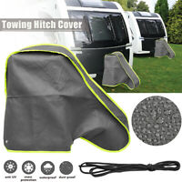 Caravan Trailer Towing Hitch Coupling Lock Cover Grey Snow Protection