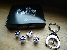 Orig. Mercedes Benz Ventilkappen für Alufelgen + Schlüsselanhänger Stern AMG