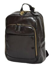 Womens Real Leather Lightweight Backpack Collage Work Travel Rucksack Black