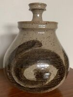 Vintage Stoneware Vase Jug Vessel Urn Mid Century Modern Studio Pottery Deyoe B