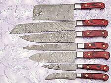 CUSTOM MADE DAMASCUS BLADE 8 Pc's. KITCHEN KNIVES SET. PZ-0181-C