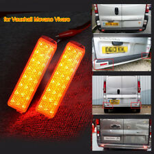 for Vauxhall Movano Vivaro Rear Bumper Reflector LED Fog Lamps Stop Brake Lights