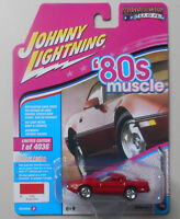 1988 Bright Red Chevy Corvette JOHNNY LIGHTNING MUSCLE USA DIE-CAST 1:64