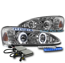 04-08 PONTIAC GRAND PRIX HALO LED PROJECTOR HEADLIGHT LAMP CHROME W/BLUE DRL+HID