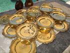 18pc OLD DINNER PLATES Sterling SILVER GOLD vermeil 427 Oz 12+KILO MUSEUM BEST!