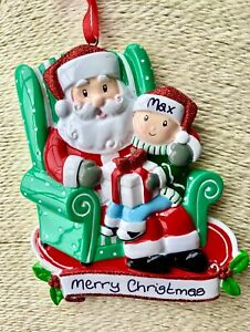 Personalised Child Santa's Lap Christmas Tree Decoration Baby's First  Christmas