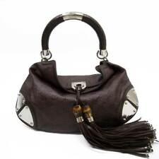 Auth GUCCI Guccissima Indy Tassel Fringe 2-Way Handbag Shoulder Bag - 52014c