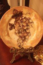 1855 Email de Limoges I. Godinger Plate Gold Background with Grapes