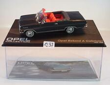 Opel Collection 1/43 Opel Rekord A Cabriolet schwarz 1963/65 in Plexi Box #1297