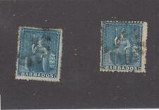 BARBADOS # 25 x 2 1p BLUES BRITANNIA's CAT VALUE $135