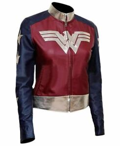 Wonder Woman Stylish Ladies Christmas & New Year Costume Party Leather Jacket