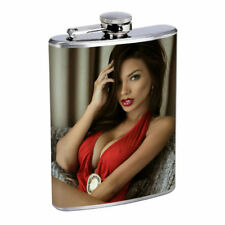 Rock & Roll Pin Up Girls D5 Flask 8oz Stainless Steel Hip Drinking Whiskey