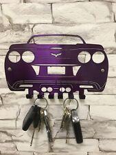 Corvette C6 Key Chain Holder- Painted Translucent Purple