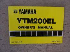1983 Yamaha Atv Motorcycle Ytm200El Owner Manual Off Road Maintenance Record T