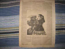 ANTIQUE 1857 SPANISH BELLES SPAIN FEMALE WOMENS FASHION PRINT WOMEN SUPERB NR