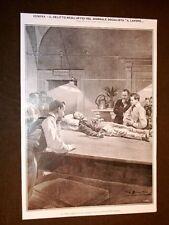 """Genova nel 1908 Delitto negli uffici del giornale socialista """"Il lavoro"""" Vittima"""