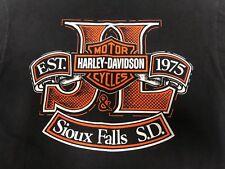 MEN'S HARLEY-DAVIDSON SHORT SLEEVE T-SHIRT--J&L SIOUX FALLS-BLACK-SIZE M-GREAT!
