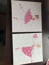 Girls bedroom Wall Canvas Duo Print by Retailer Next.