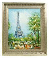 Burnett Eiffel Tower Paris France Original Framed Signed Oil Painting