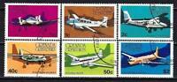 Aviones Granada Granadinas (59) serie completo de 6 sellos matasellados