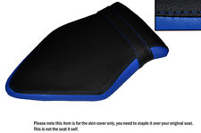 BLACK & ROYAL BLUE CUSTOM FITS BMW S 1000 RR 15-16 REAR LEATHER SEAT COVER